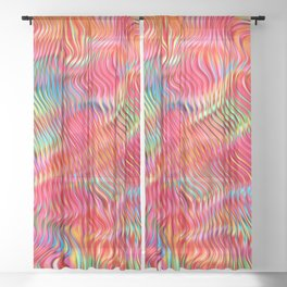 Abstract Pattern XXII Sheer Curtain