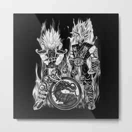 Goku & Vegeta in Mortal combat Cosplay Metal Print