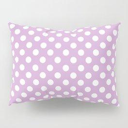 Violet Dots Pattern Pillow Sham
