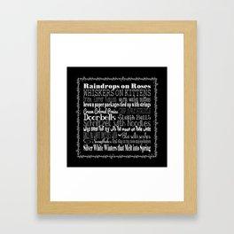 My Favorite Things - Black Framed Art Print