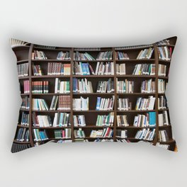 Bookshelf Books Library Bookworm Reading Rectangular Pillow