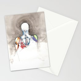 Non-apate, male back anatomy, NYC artist Stationery Cards