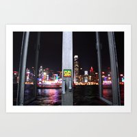 hong kong Art Prints featuring Hong Kong  by Chernyshova Daryna