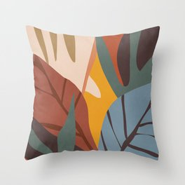 Abstract Art Jungle Throw Pillow