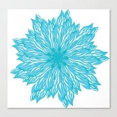 Blue flow er Canvas Print