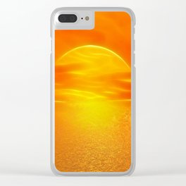 Sonne über dem Meer Clear iPhone Case