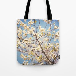 Dogwood Tree - Spring Flowering Tree Photography Tote Bag