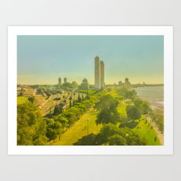 Aerial View of Rosario Coast Art Print