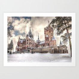 Schloss Drachenburg Art Print
