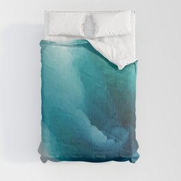 """""""Inner Calm"""" Turquoise Modern Contemporary Abstract Comforters"""