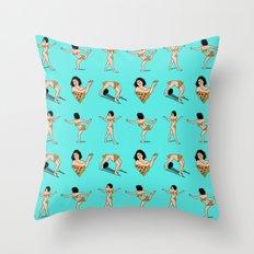 BROAD CITY. Ilana Art Model (skyblue pattern) Throw Pillow