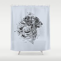 leo Shower Curtains featuring Leo by Daniac Design