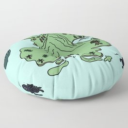 to live will be an awfully big adventure Floor Pillow