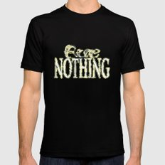 Rue Nothing Camo Logo Black Mens Fitted Tee MEDIUM