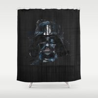 darth Shower Curtains featuring Darth Vader by BarLevitsky