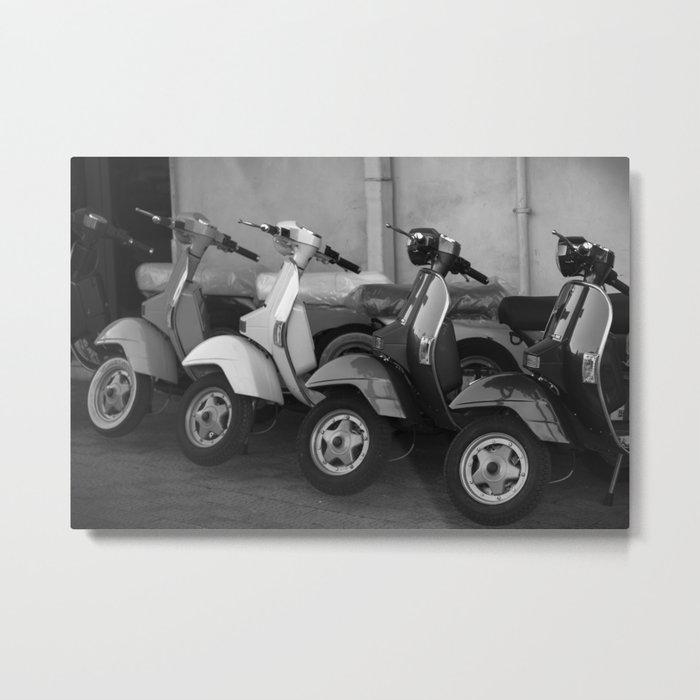 4 Scooters Metal Print