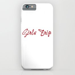 "Still out there looking for a nice gift this holiday?Grab this ""Girls Trip Cheaper Than Therapy"" tee iPhone Case"