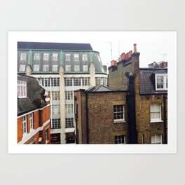 London Rooftops Art Print