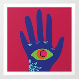 All Seeing Hand Art Print