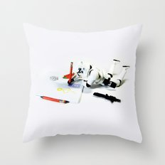 Drawing Droids Throw Pillow