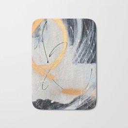 Midnight Time Lapse: a minimal, abstract mixed-media piece by Alyssa Hamilton Art in Gold, Black Bath Mat