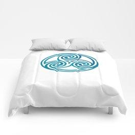 St. Patrick's Day Celtic Blue Mandala #5 Comforters