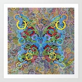 Clockwork Butterfly No. 11 Art Print