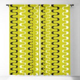 Geometric Pattern 240 (mustard wavy lines) Blackout Curtain