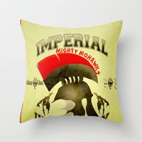 skyrim Throw Pillows featuring Imperial University(Skyrim) by Chubbybuddhist