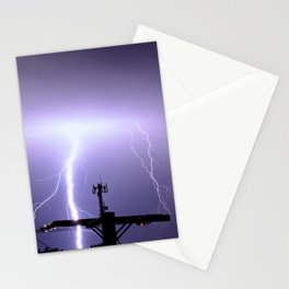 Lightning in the night Stationery Cards