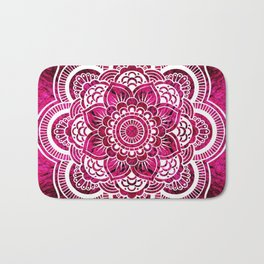 Mandala Hot Pink Colorburst Bath Mat