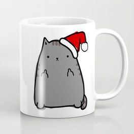 Christmas Cat Double Bird Coffee Mug