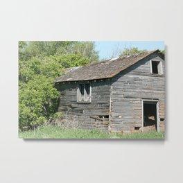 Abandoned Barn Falling to Ruin Metal Print