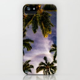 Palm Trees and Stars in Maui iPhone Case