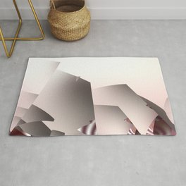Misty Morning in Abstract Landscape Rug