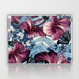 Vintage Chambray Burgundy Aloha Laptop & iPad Skin