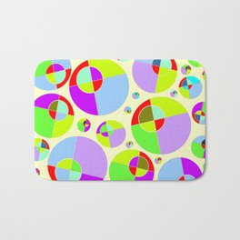 Bubble yellow & purple 10 Bath Mat
