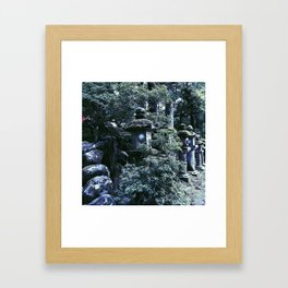 Stone Lanterns in Nara (Japan) Framed Art Print