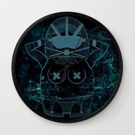 Blueprint Wise (background) Matryoshka / Nesting Doll Wall Clock