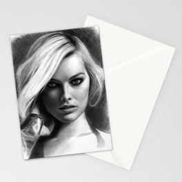 Margot Robbie Pencil Sketch Stationery Cards