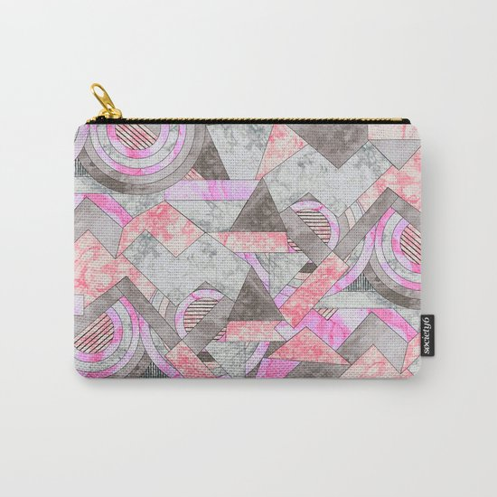 Abstract marble geo 001 Carry-All Pouch