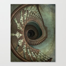 Ornamented spiral staircase Canvas Print
