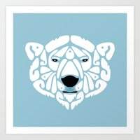 An Béar Bán (The White Bear) Art Print