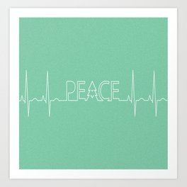 Peace Pulse Minimalist Christmas Art Print