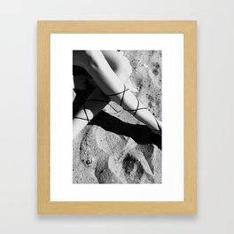 Beach legs Framed Art Print