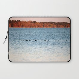 American Coots Crossing Lake Laptop Sleeve