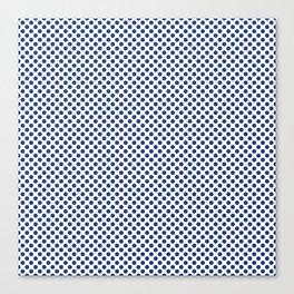 Sapphire Polka Dots Canvas Print