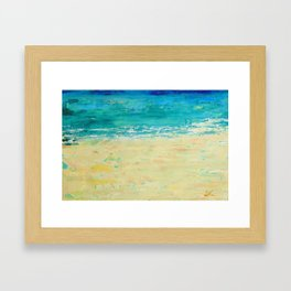 Get to the Beach! Framed Art Print