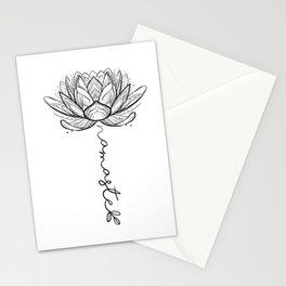 Namaste Lotus Flower Stationery Cards