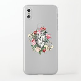 Roses for her Heart Clear iPhone Case